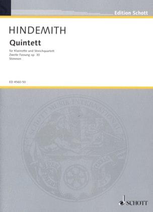 Quintett op. 30 Fassung 1955 -Stimmen HINDEMITH laflutedepan