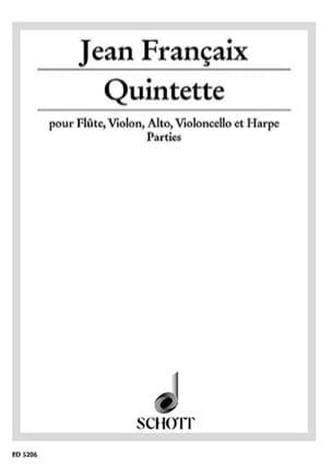 Jean Françaix - Quintette (1934) - Parties – Flûte violon alto violoncelle et harp - Partition - di-arezzo.fr