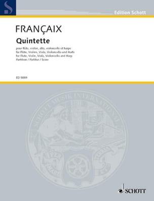 Quintette (1934) - flûte, harpe, cordes - Score - laflutedepan.com