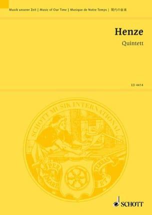 Quintett (1952) –Partitur - Hans Werner Henze - laflutedepan.com