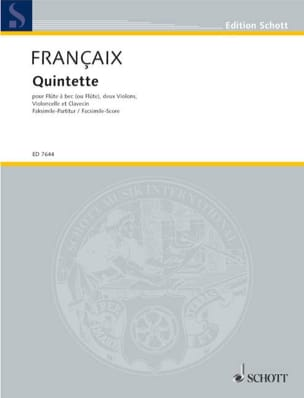 Quintette (1988) – Score - Jean Françaix - laflutedepan.com