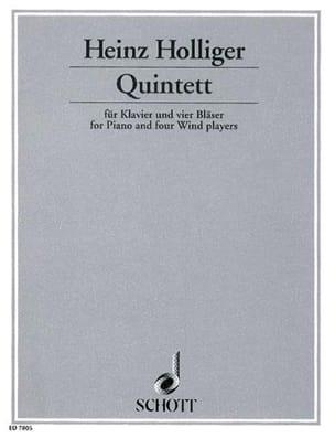Heinz Holliger - Quintett - Klavier 4 Bläser - Sheet Music - di-arezzo.com