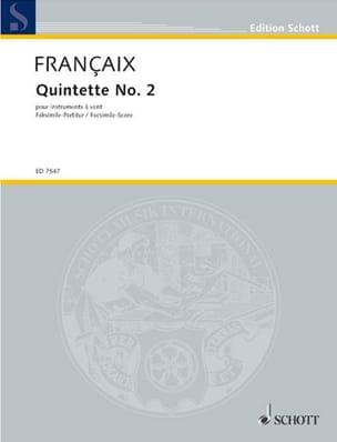 Jean Françaix - Quintet n ° 2 1987 - wind - Score - Sheet Music - di-arezzo.co.uk