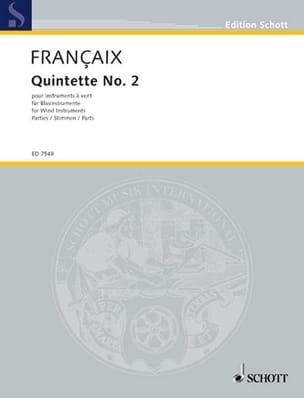Jean Françaix - Quintette n° 2 1987 - Instruments à vent - Parties - Partition - di-arezzo.fr