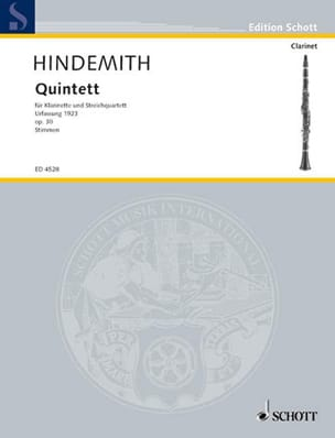 Quintett op. 30 -Stimmen - HINDEMITH - Partition - laflutedepan.com