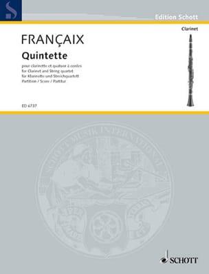Quintette - clarinette, quatuor à cordes – Score - laflutedepan.com
