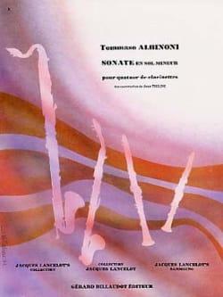 Tomaso Albinoni - Sonate en Sol mineur - Partition - di-arezzo.fr