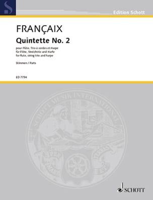 Quintette n° 2 (1989) - Parties - Flûte, trio à cordes et harpe - laflutedepan.com
