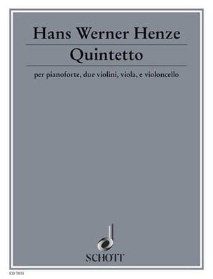 Quintetto (1990/91) - Hans Werner Henze - Partition - laflutedepan.com