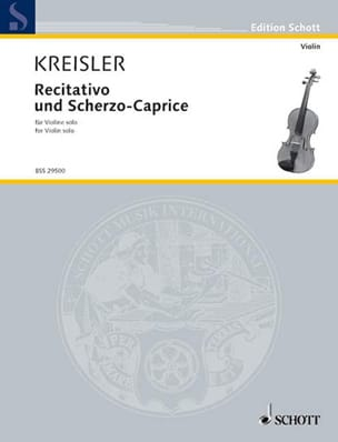 Fritz Kreisler - Recitativo und Scherzo-Caprice op. 6 - Sheet Music - di-arezzo.co.uk