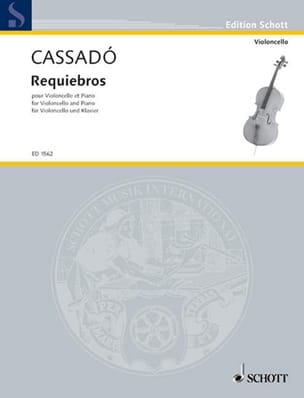 Gaspar Cassado - Requiebros - Partitura - di-arezzo.it