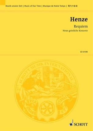Requiem 1990-92 - Hans Werner Henze - Partition - laflutedepan.com