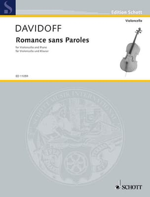 Charles Davidoff - Romance sans paroles - Partition - di-arezzo.fr