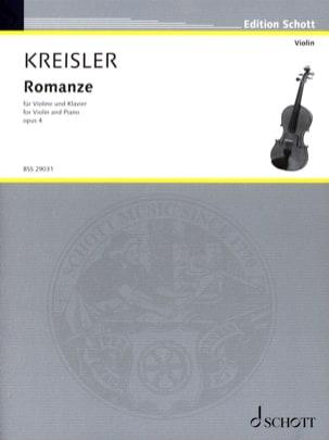 Romanze op. 4 - Fritz Kreisler - Partition - Violon - laflutedepan.com