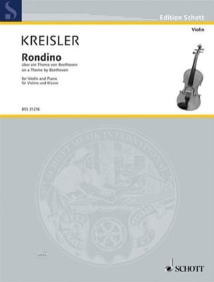 Fritz Kreisler - Rondino (sur un thème de Beethoven) (simpl.) - Partition - di-arezzo.fr