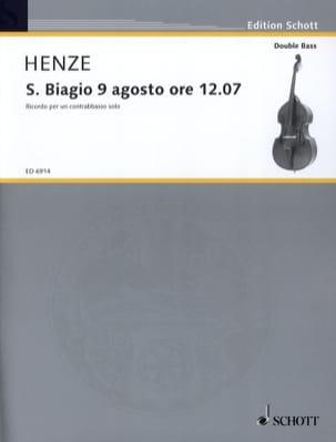 Hans Werner Henze - S. Biagio 9 Agosto ore 1207 - Partition - di-arezzo.fr