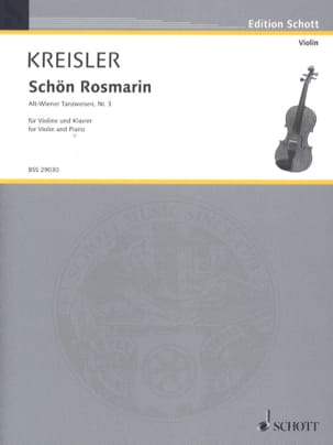 Fritz Kreisler - Schön Rosmarin - Partition - di-arezzo.co.uk