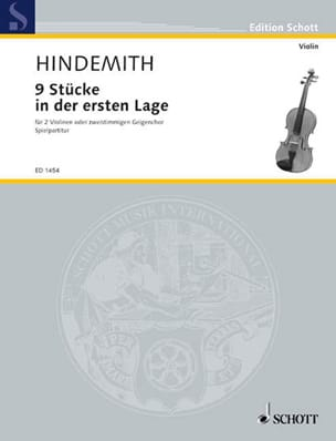 Paul Hindemith - Schulwerk, Bd 1 - Sheet Music - di-arezzo.com