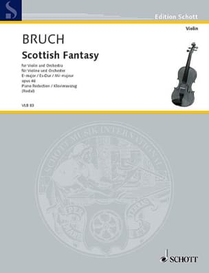 Schottische Fantasie op. 46 Max Bruch Partition Violon - laflutedepan