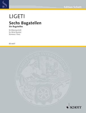 György Ligeti - 6 Bagatellen - Bläserquintett - Stimmen - Sheet Music - di-arezzo.co.uk