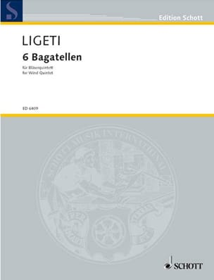 György Ligeti - 6 Bagatellen - Bläserquintett - Partitur - Sheet Music - di-arezzo.co.uk