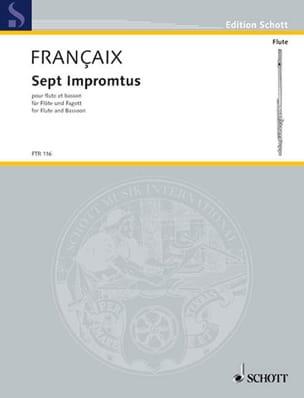 7 Impromptus - Jean Françaix - Partition - Duos - laflutedepan.com