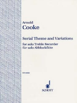 Serial Theme and Variations Arnold Cooke Partition laflutedepan