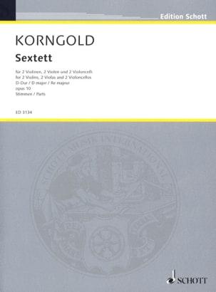 KORNGOLD - Sextett D-hard op.10 - Stimmen - Sheet Music - di-arezzo.com