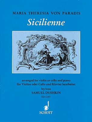Maria Theresia von Paradis - Sicilian - Violine o. Cello - Sheet Music - di-arezzo.co.uk