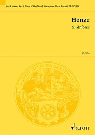 Sinfonie Nr. 5 Hans Werner Henze Partition laflutedepan