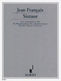 Sixtuor – Score - Jean Françaix - Partition - laflutedepan.com