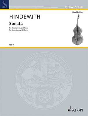 Paul Hindemith - Sonata - Kontrabass Klavier - Sheet Music - di-arezzo.co.uk