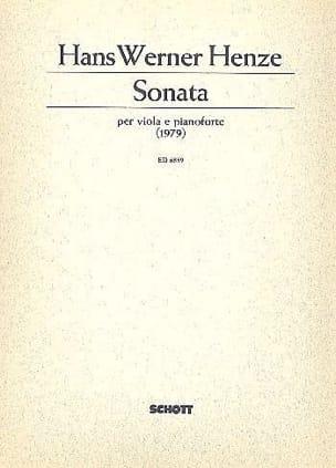 Hans Werner Henze - Sonata (1979) - Alto - Partition - di-arezzo.fr