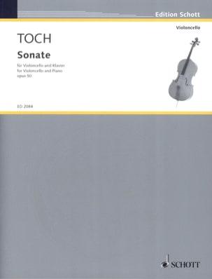 Sonate - Ernst Toch - Partition - Violoncelle - laflutedepan.com