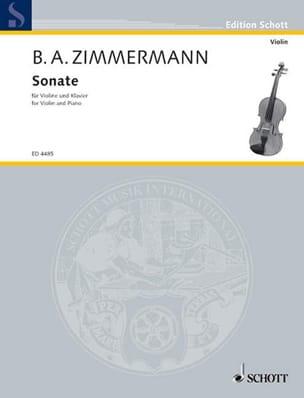 Sonate - Violon piano - Bernd Alois Zimmermann - laflutedepan.com