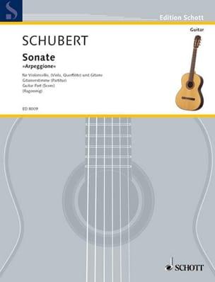 SCHUBERT - Sonate Arpeggione a-moll - Guitar Part - Partition - di-arezzo.fr