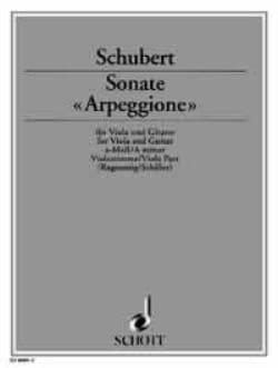 Sonate Arpeggione a-moll - Viola Part - SCHUBERT - laflutedepan.com