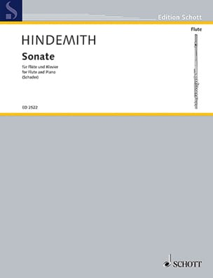 Paul Hindemith - Sonata for Flute 1936 - Sheet Music - di-arezzo.co.uk