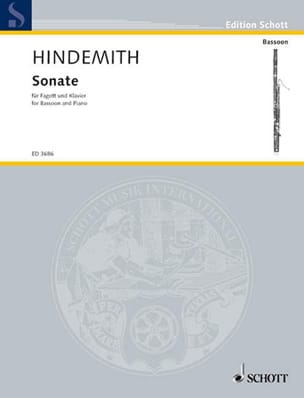 Paul Hindemith - Sonate – Basson et Piano - Partition - di-arezzo.fr
