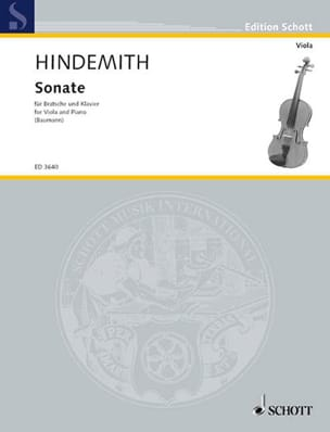 Paul Hindemith - Sonate 1939 - Bratsche Klavier - Partition - di-arezzo.fr
