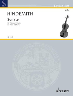 Sonate 1939 - Paul Hindemith - Partition - Violon - laflutedepan.com