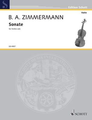 Sonate - Violon seul Bernd Alois Zimmermann Partition laflutedepan