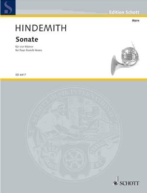 Sonate für 4 Hörner – Partitur - Paul Hindemith - laflutedepan.com