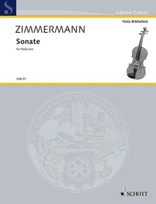Bernd Alois Zimmermann - Sonate für Viola solo - Partition - di-arezzo.fr