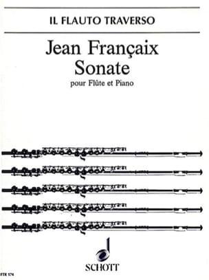Sonate - Flûte et piano - Jean Françaix - Partition - laflutedepan.com