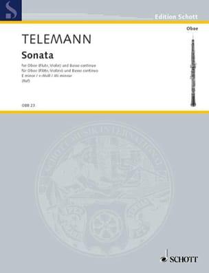 TELEMANN - Sonate e-moll -Oboe Flöte, Violine und Bc - Partition - di-arezzo.fr