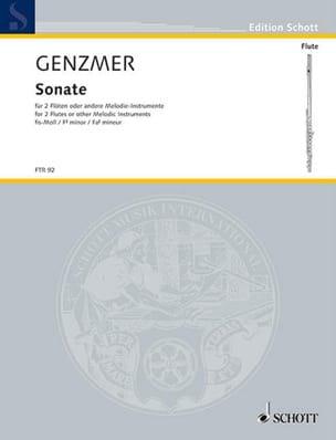 Harald Genzmer - Sonate Fis-moll – 2 Flöten - Partition - di-arezzo.fr