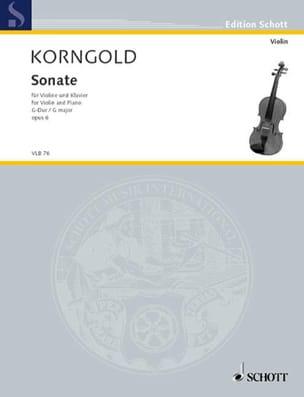 Sonate G-Dur, op. 6 - Erich Wolfgang Korngold - laflutedepan.com