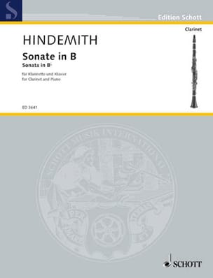 Paul Hindemith - Sonate in B – Klarinette Piano - Partition - di-arezzo.fr