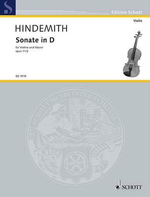 Sonate op. 11 n° 2 in D HINDEMITH Partition Violon - laflutedepan